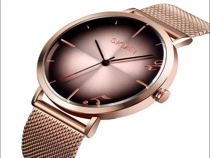 Skmei 9200 Luxury Brand Simple Men Watch Stainless Steel Wristwatch
