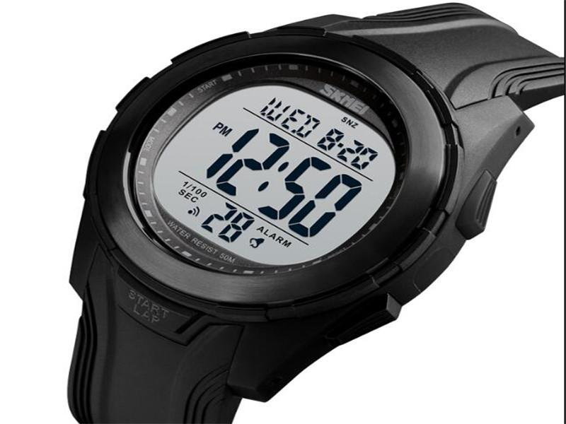 Skmei Hot Jam Tangan 5atm Waterproof Digital Watches Outdoor Men Sport Silicone Watches #1503