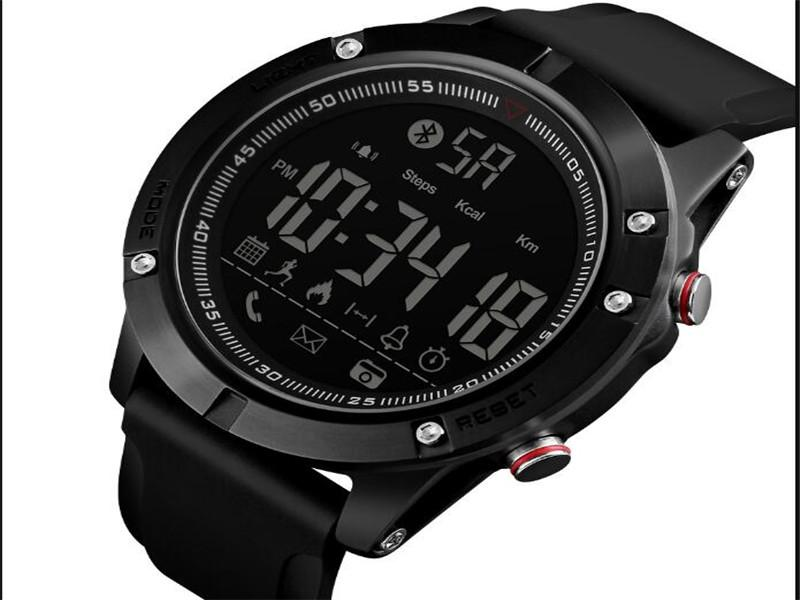 Skmei 1425 Smart Watch Mobile Phone Reminder with Silicone Band Pedometer for Man
