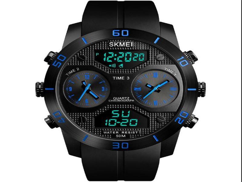Reloj Skmei 1355 Three Time Zone Watches Men Wrist