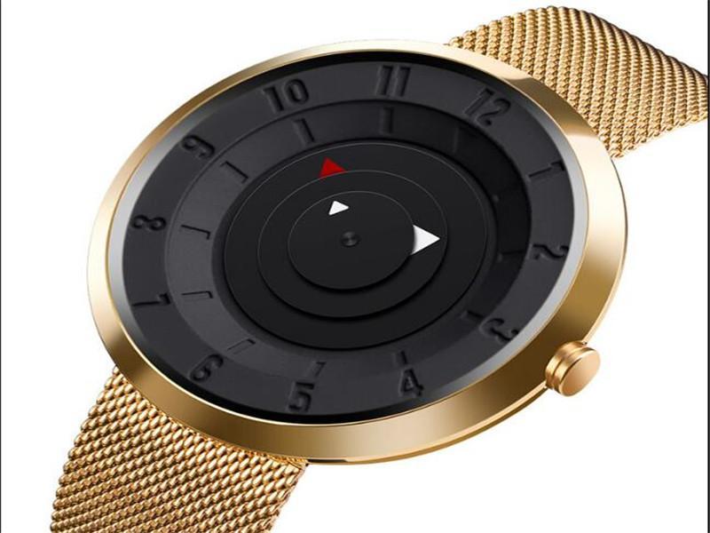 SKMEI #9174 Special Design Stainless Steel Watches Classic Men Quartz Waterproof Wrist Watch