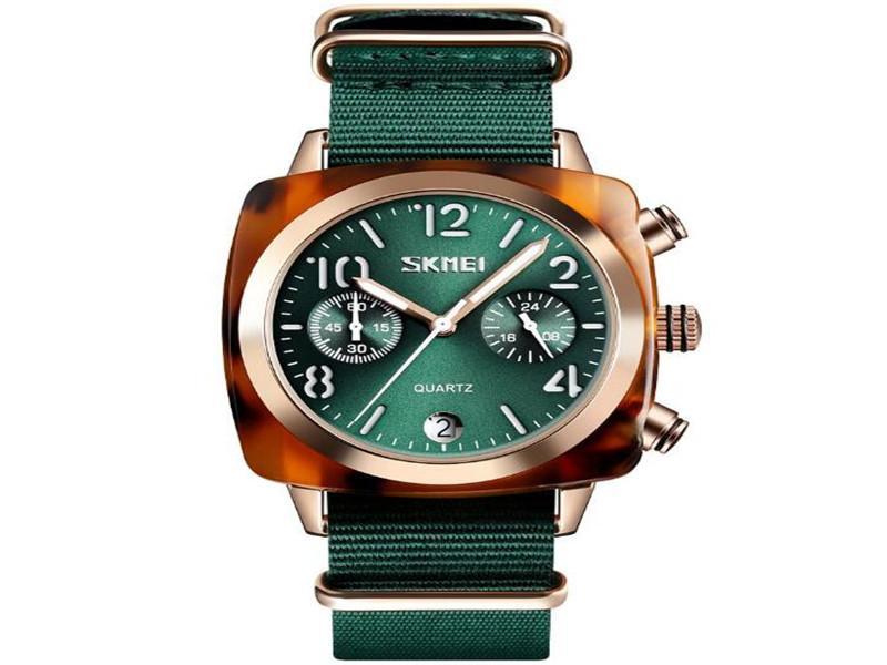 Skmei 9186 Quality Quartz Stianliess Steel Nylon Watch Strap Custom Logo Men 30m Water Resistant