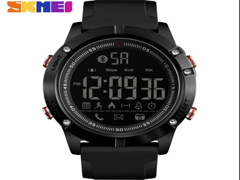 Skmei 1425 Men's Waterproof Smart Multifunction Watch Low Moq Cheap Silicone Wristwatches