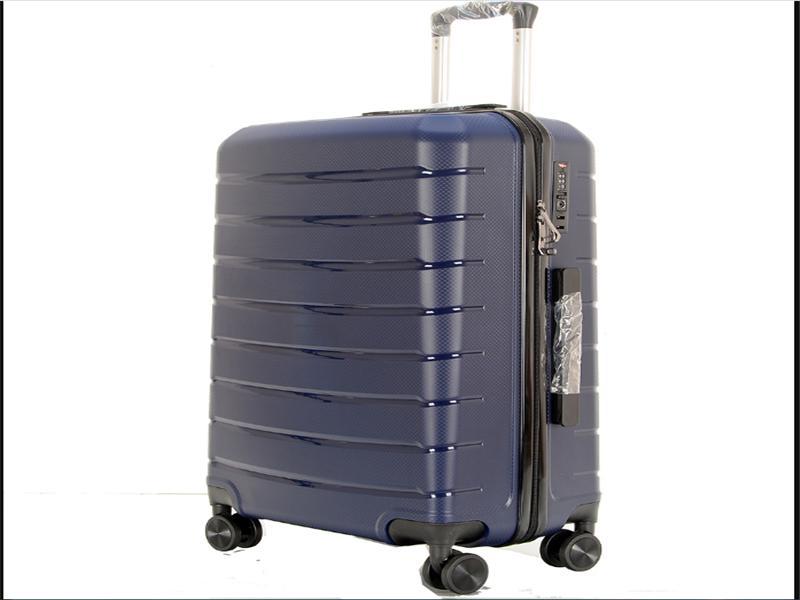 Durable Polypropylene Travel Luggage Bag Suitcase Set with Rotating Wheels