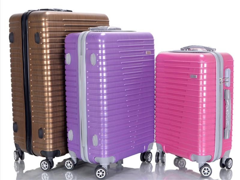 Cheap ABS Travel 3 Piece Trolley Luggage Set with Competitive Price Custom Logo