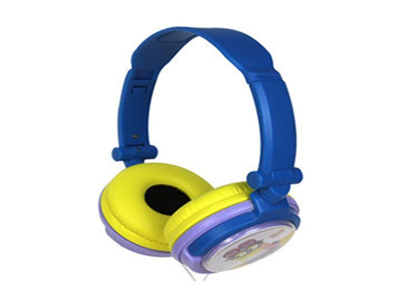 Foldable Children Headphone with Customized Ear Cap and Colors