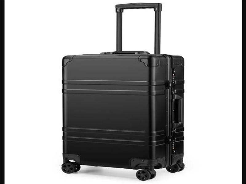 The Best Quality Matt Finish Carry On Aluminum Metal Suitcase for European Market