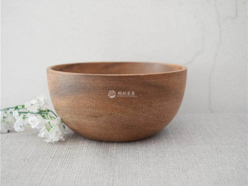 Factory Directly OEM Cheap Price Round Brown Wooden Bowls