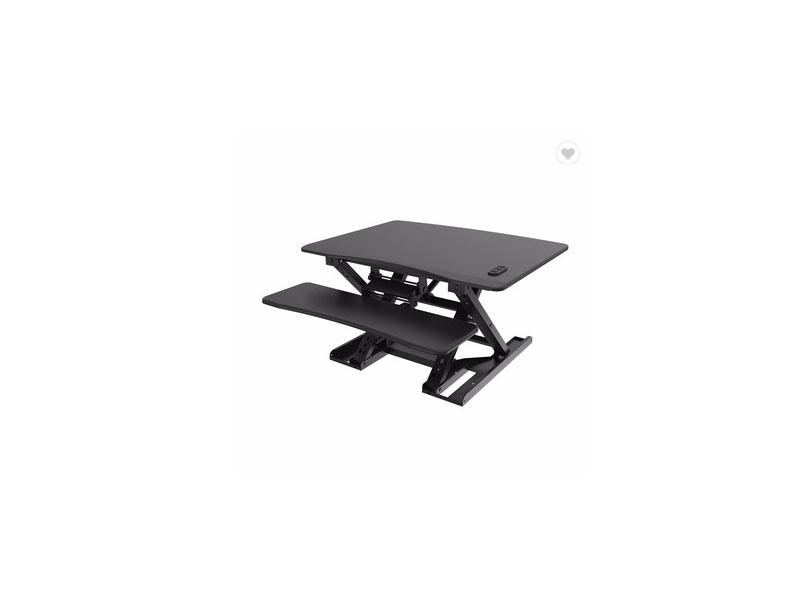 Folding Office Flexible Gas Spring Sit Stand Desk Converter Ergonomic Table with Keyboard Tray for C