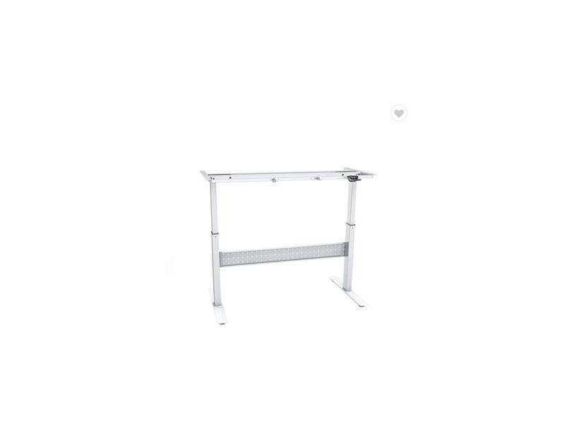 Adjustable Height Office Table Sit Stand Desk Frame with Crank Handle
