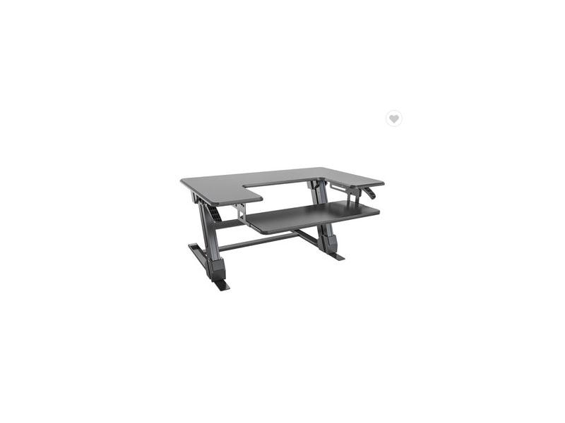Solid Support Adjustable Sit To Stand Desk Desktop Converter Riser