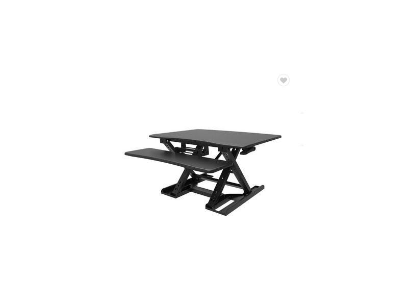 Wood Top Wide Keyboard Tray Stepless Height Desk Adjustment Sit Stand Up Desks