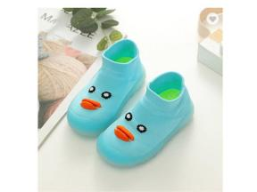Autumn New Baby Knit Jelly Bottom Breathable Baby Socks Shoes Korean Short Tube Infant Toddler Shoes