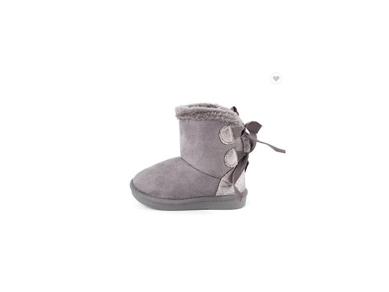 Winter Shoes Pretty Grey Baby Shoes Wholesale Snow Boots Girls