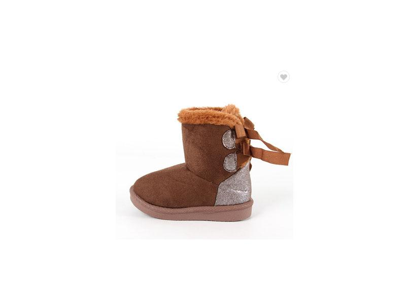 High Quality Soft Baby Boots Warmer Brown Snow Boots for Girls