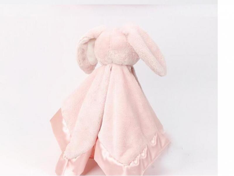 Custom Plush Rabbit Coral Fleece Toy Baby Blanket