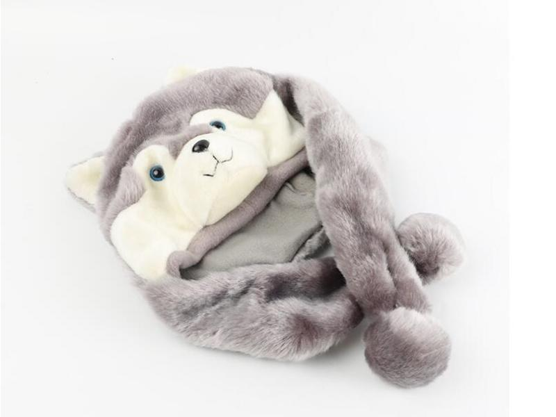 Unisex Cute Funny Children Warm Soft Animal Plush Hat
