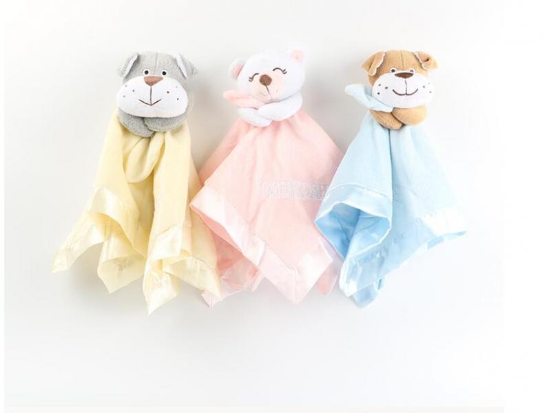 Soft Plush Teething Durability Fabric Security Blanket Baby