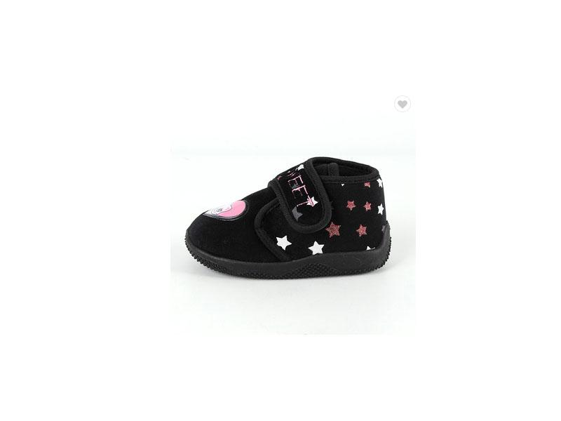 New Design Funny Animal Fashionable Black Injected Baby Shoes