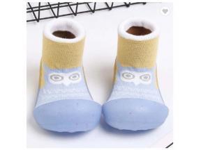 Baby Shoe Socks Toddlers Jelly Bottom Cotton Thread Sole Non-Slip Socks