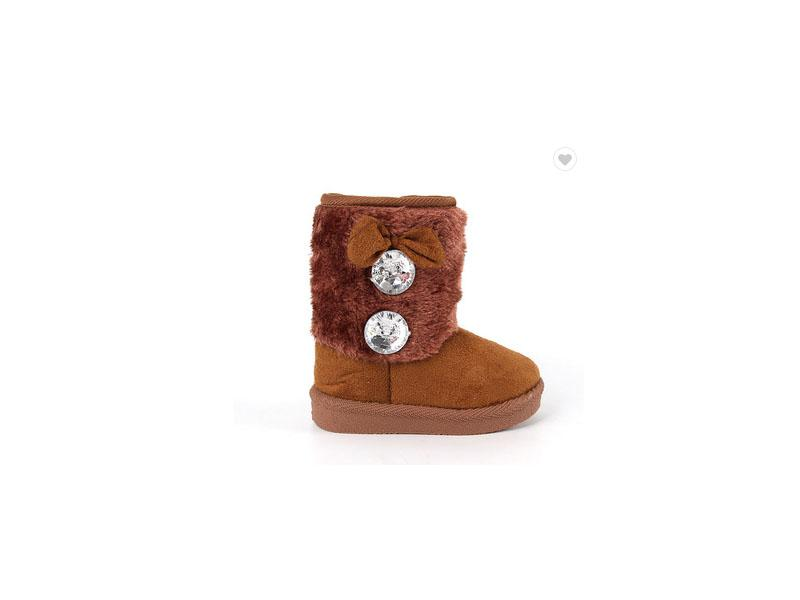 China Wholesale Cheap Kids Brown Winter Snow Boots for Girls