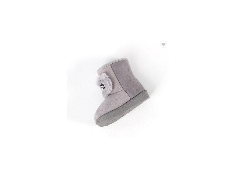 New Design Wholesale Baby Boots Plush Grey Baby Girl High Boots Winter