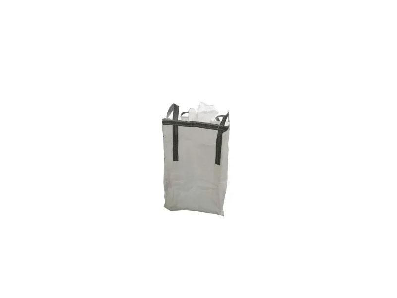 White Fabric with Coated Top and Bottom Spout FIBC Bag