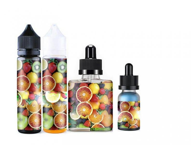 Fully Custom Colorful Matte Waterproof Labels E Liquid Bottle Stickers for Electronic Cigarette