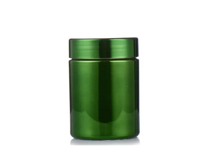 Packaging Empty Supplement Black Jar