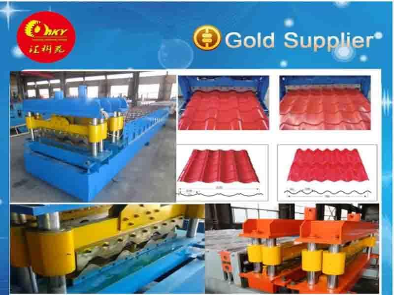 Export Quality Glazed Tile Roof Making Machine