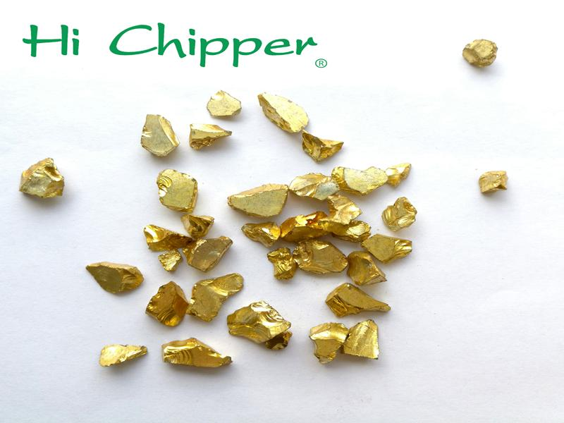 Gold Coated Glass Chips
