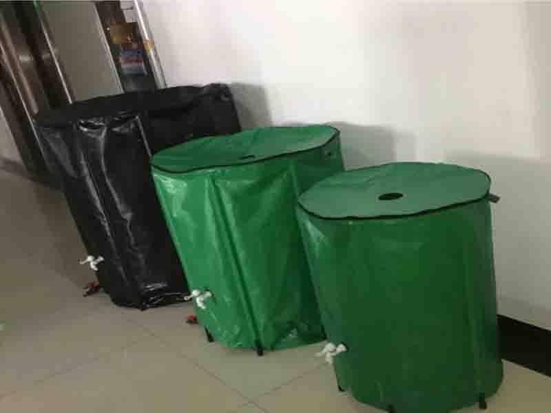 500L Garden PVC Rain Barrel Collapsible Plastic Camping Water Barrel