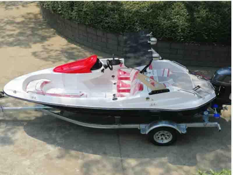 16FT FRP Speed Boat with 4 Stroke 60HP Outboard Engine