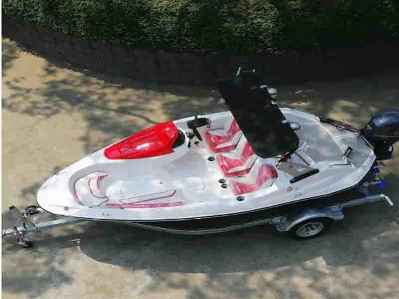 Outboard Engine Type and FRP Hull Material Boat