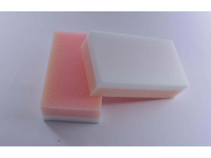 Kitchen Cleaning Eraser Sponge Melamine Foam Sponge Eraser Foam Pink PU Foam