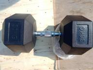 Black Rubber Hex Dumbbell with Wholeasale Price