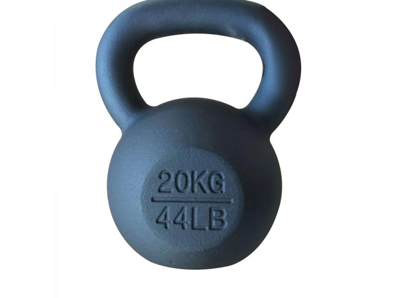 China 4-48kg Black Color Powder Coated Cast Iron Kettlebell