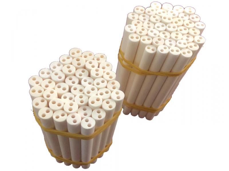 99.5% Alumina Ceramic 2 Holes Tube/Pipe