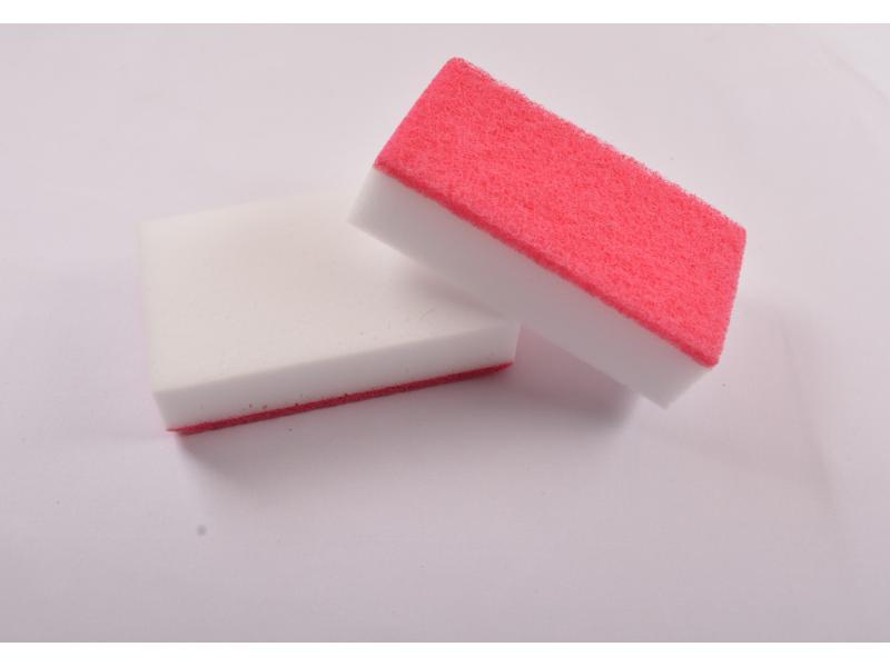 Scouring Pad Composite with Melamine Sponge Magic Foam Eraser