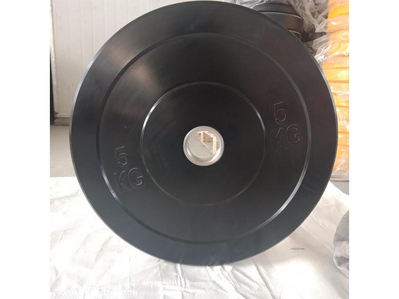 China Manufacturer Wholesale Black Color Barbell Weightlifting RubberBumper Plate