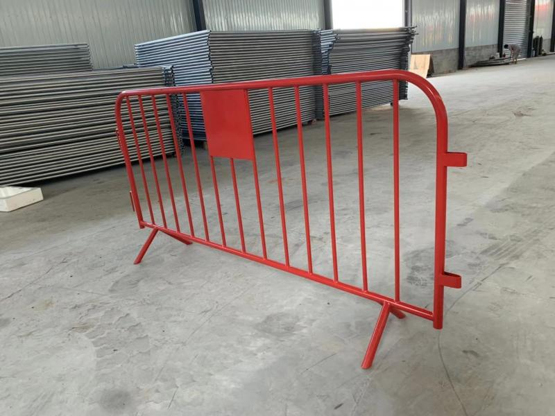 Temporary Steel Barricades for Traffic and Crowd Control