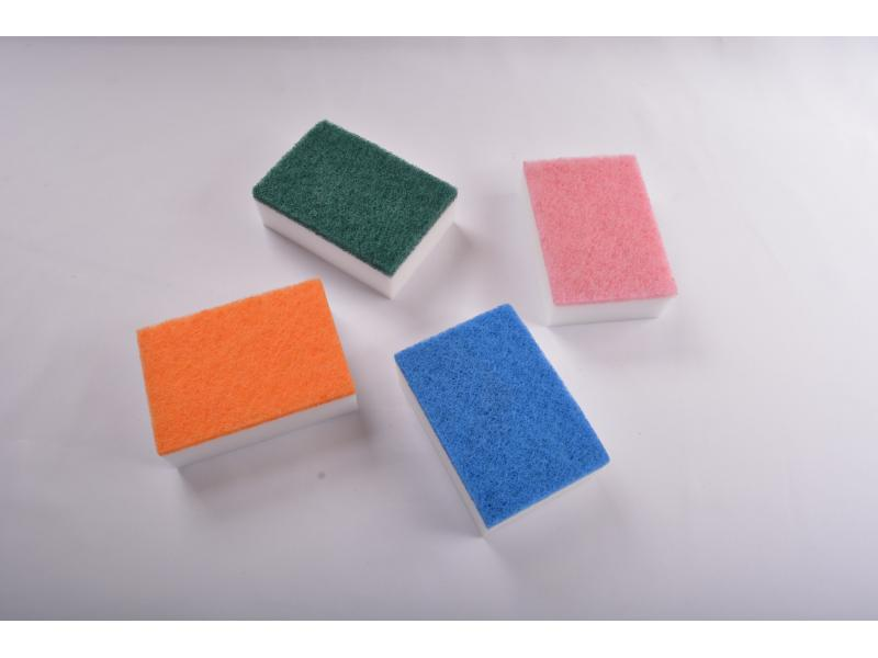 Different Color of Scouring Pad with Original Cleaning Sponge White Magic Sponge