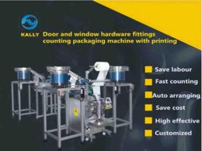 Door and Window Hardware Fittings Counting Packaging Machine with Printing