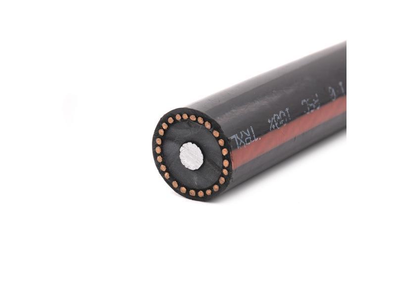 Single Core Aluminum Stranded Aluminum Xlpe Insulation Copper Wire Shield Mv Aluminum Cable