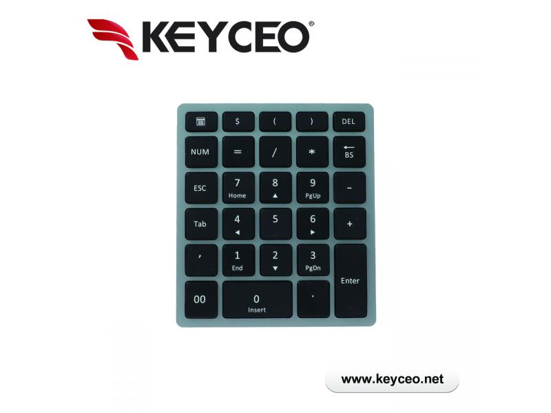 Ultra Thin  USB/ 2.4G/  Bluetooth  Portable  Numeric Keyboard Scissor Switch Number Pad