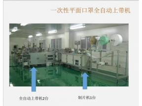 Full Automatic Face Mask Making Machine for 3 Layers Medical Mask, One-to-on and One-to Two Lines