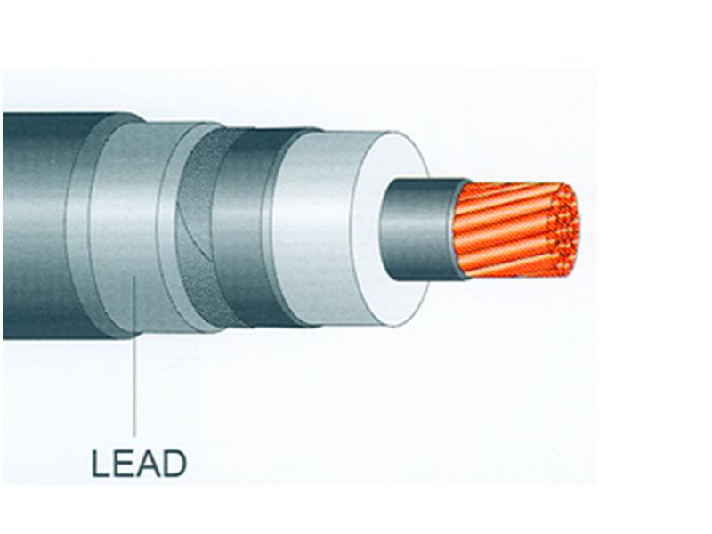 Medium Voltage Copper Conductor Unarmour Lead Sheath Power Cable