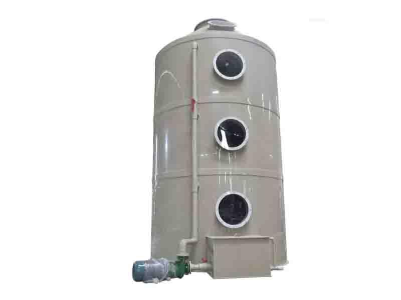 Crossflow Wet Scrubber for Treating Water-Soluble Acids