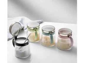 Kitchen Lead Free Glass Seasoning Jar Oil Pot