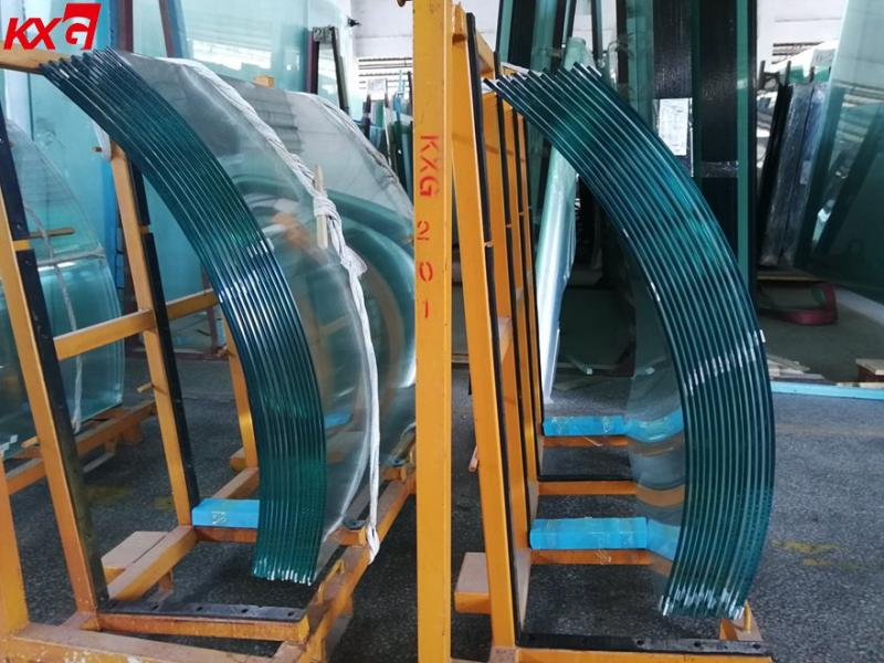 Curved Tempered Glass Railing Toughened Curved Glass Manufacturer